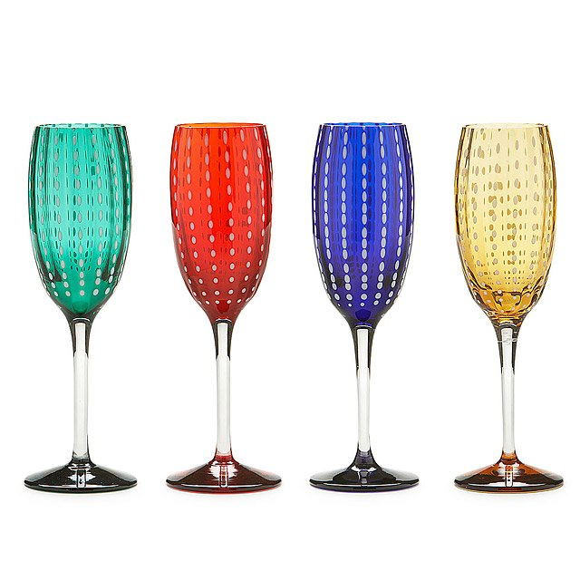 Pearl Glass Flutes - Set of 4
