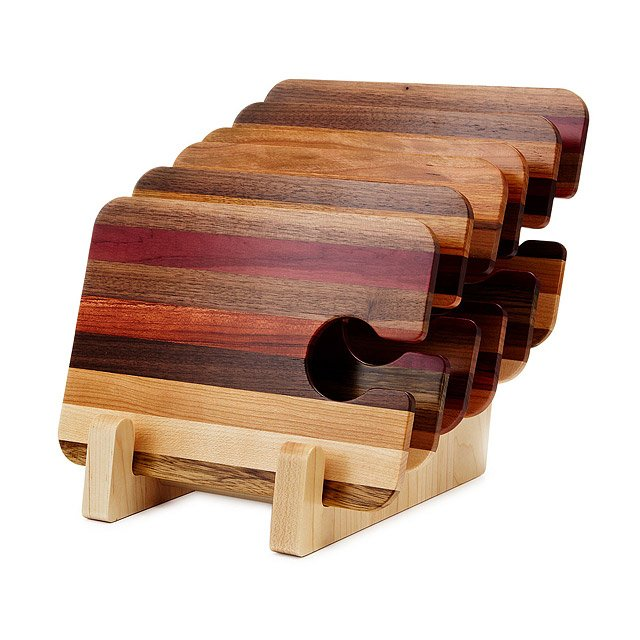 Wooden Party Trays - Set of 6