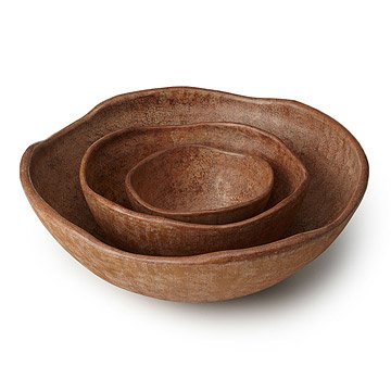 Stone Finish Organic Bowls - Set of 3