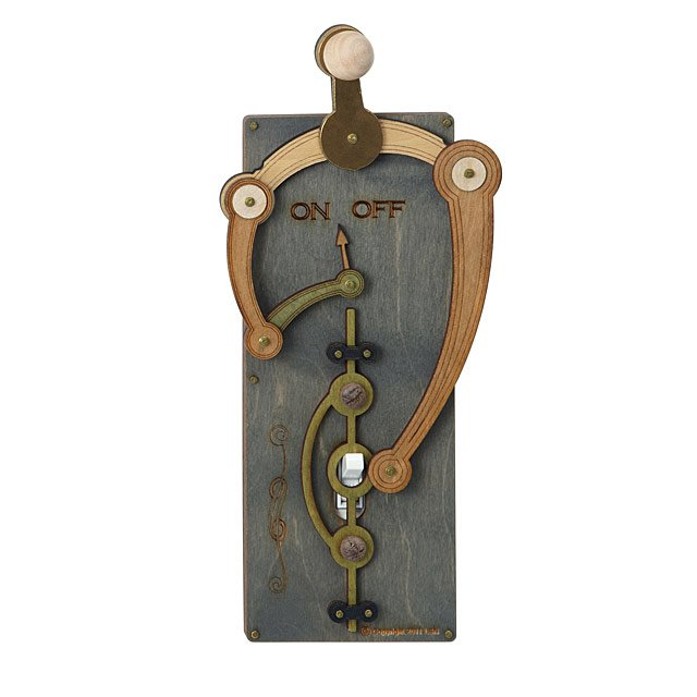 Toggle Switch Plate Laser Cut Steampunk Light Switch Covers