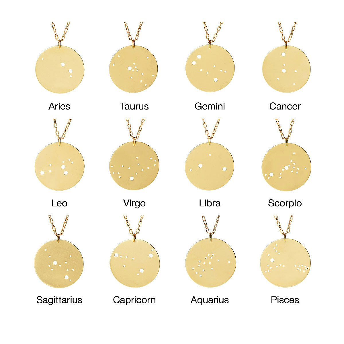 gift astrology zodiac necklace for gifts horoscope mom constellation boxed products her jewelry