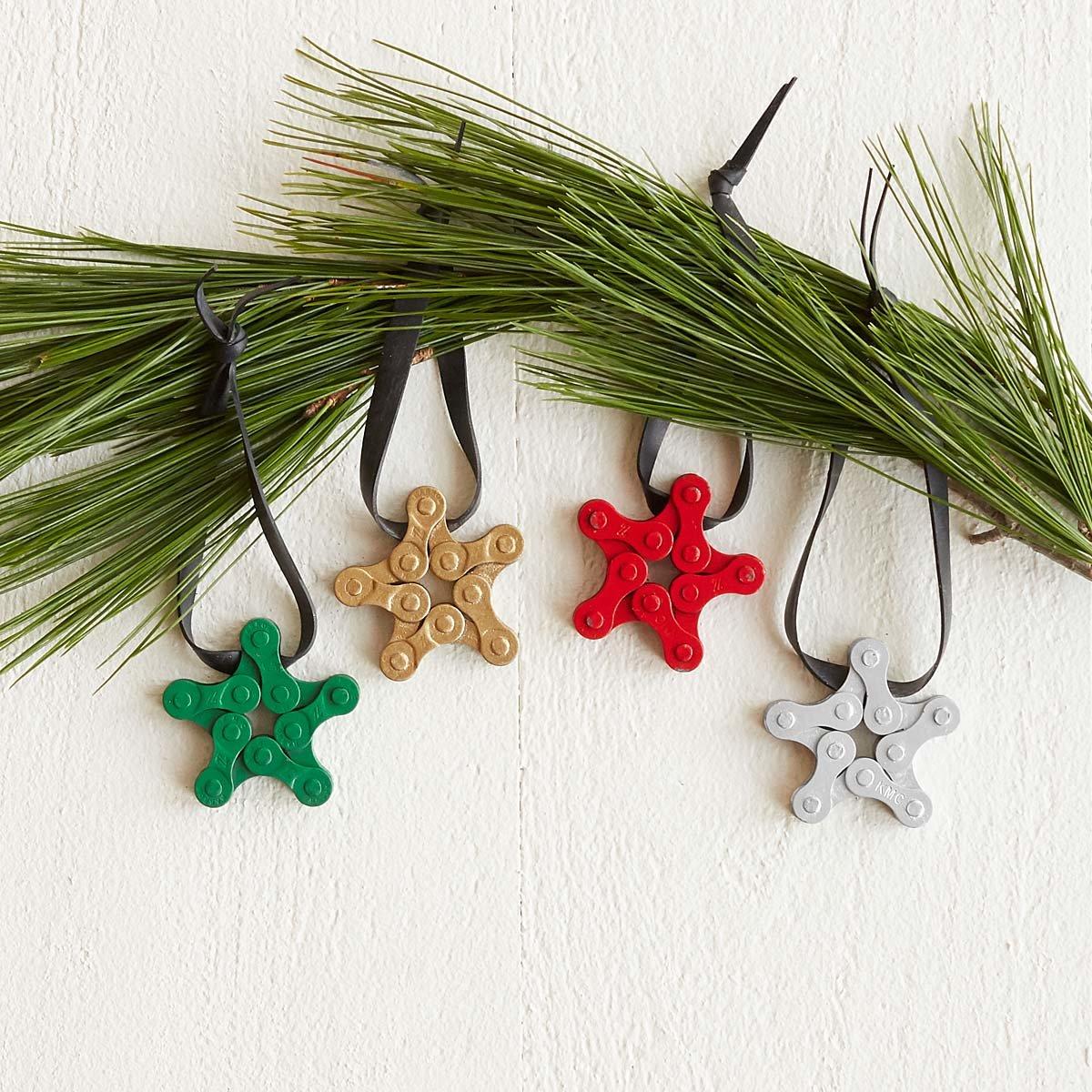 holiday bike chain star ornaments 1 thumbnail - Bicycle Christmas Ornament