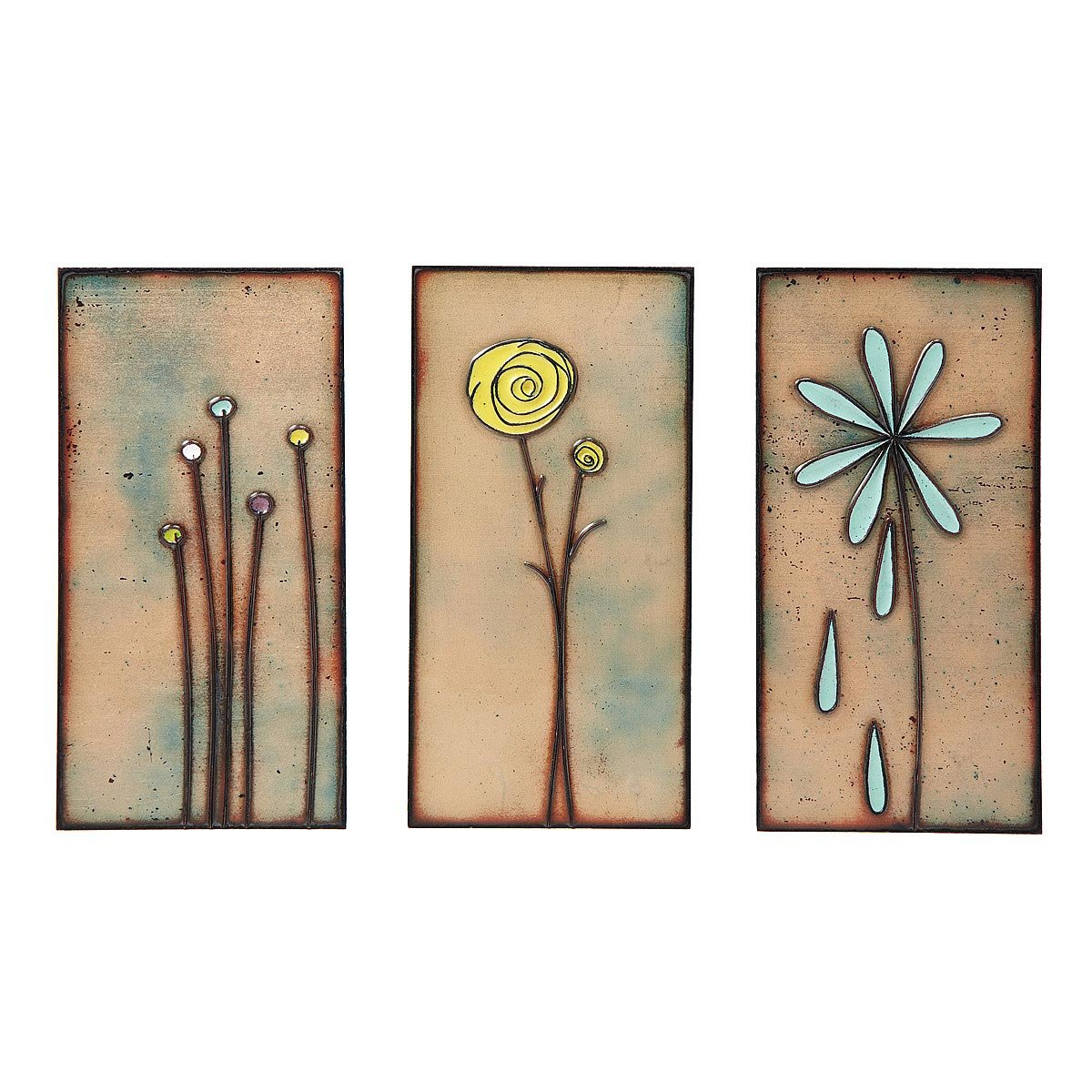 handmade copper wall flowers - Home Decor Accents