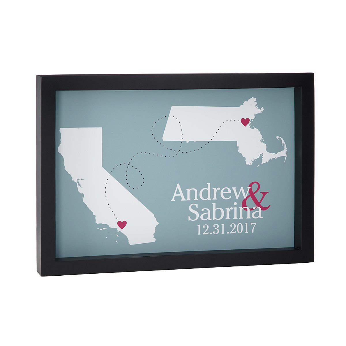 State Country Couples Map Love Will Find A Way Personalized Art