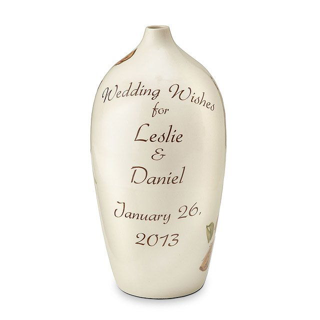 Personalized Wedding Wish Vase