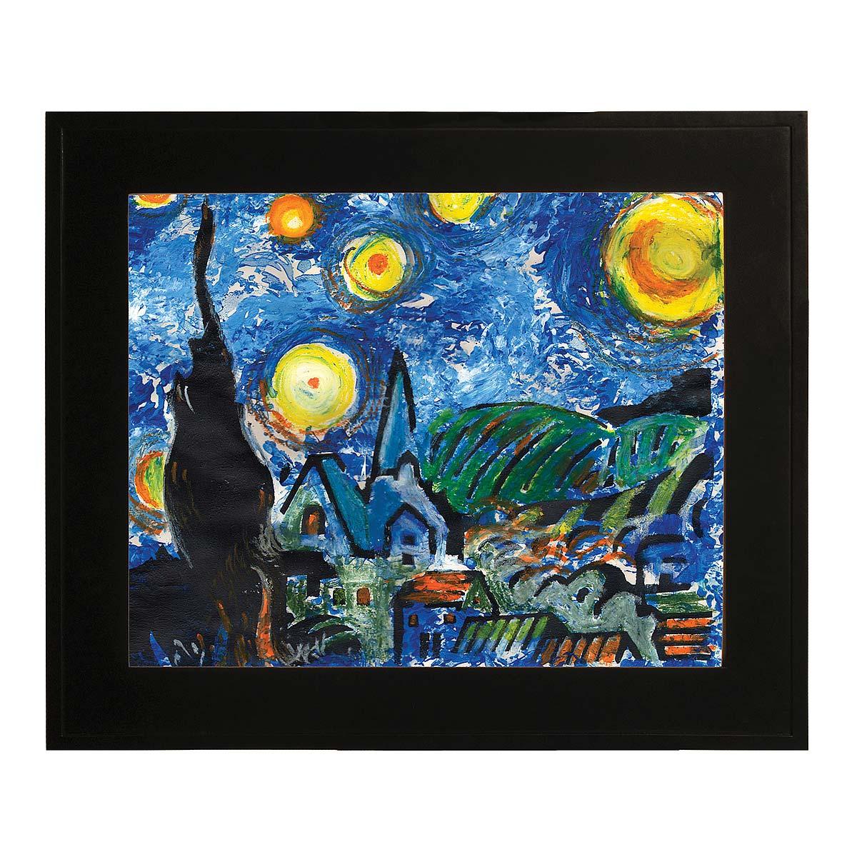 starry night master art kit for kids van gogh art project for kids