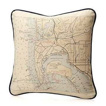Custom Map Pillow