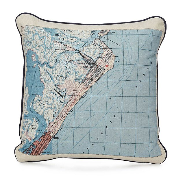 Custom Map Pillow 2