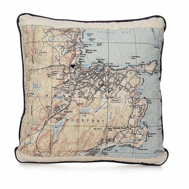 Custom Map Pillow 3