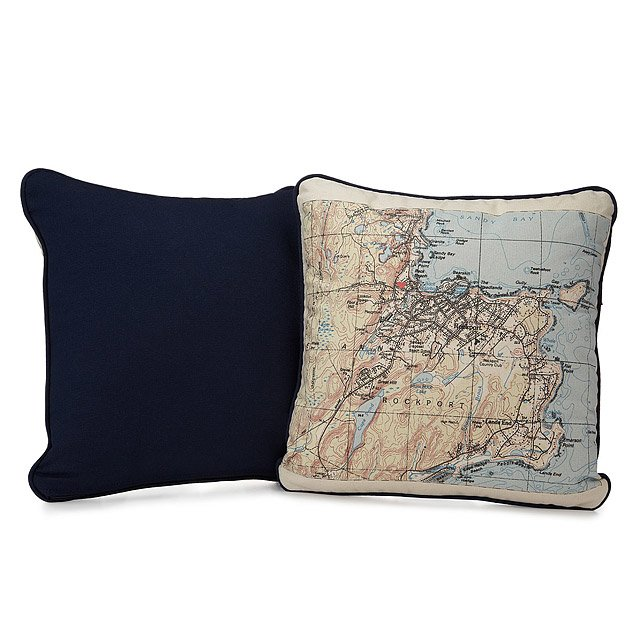 Custom Map Pillow 4