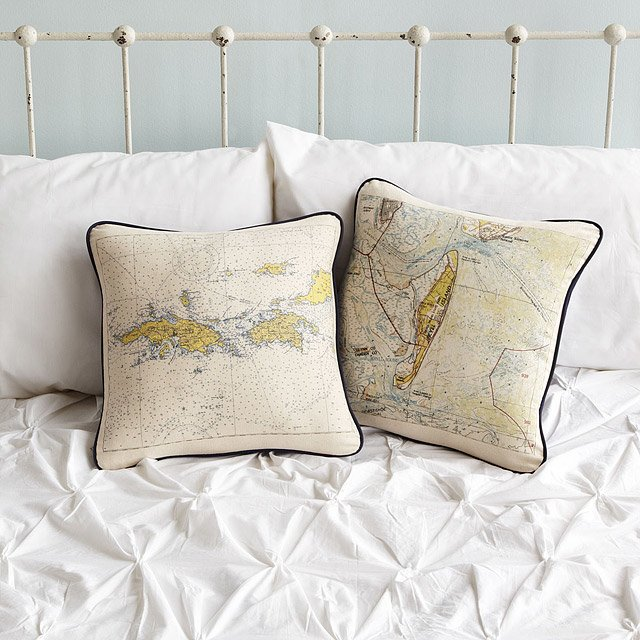 Custom Map Pillow 5