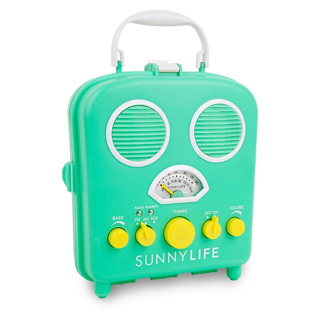 Beach Sounds Portable Speaker Radio Boombox Stereo