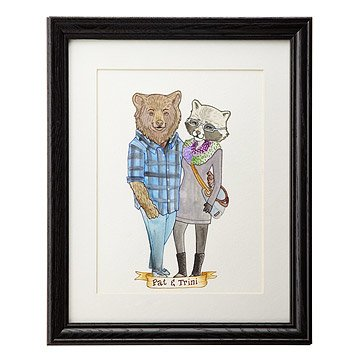 Custom Animal Couple Portrait Art