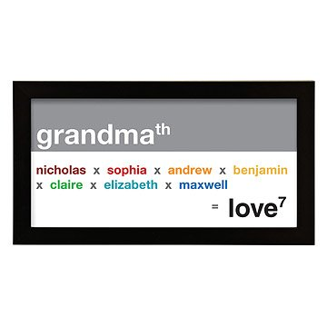 Grandma Exponential Love Personalized Art