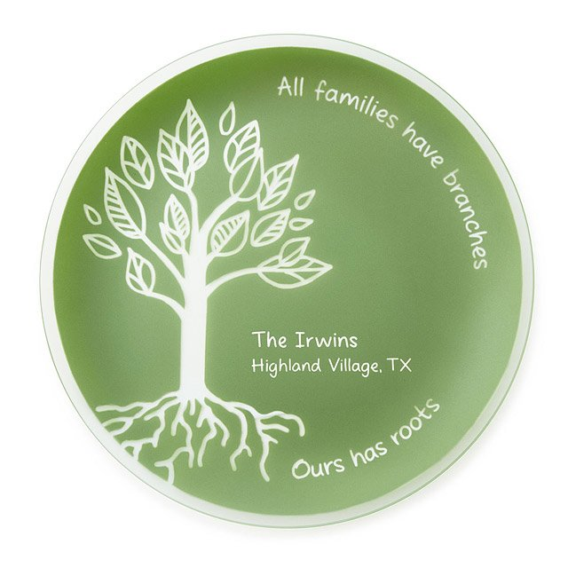 Personalized Family Roots Platter