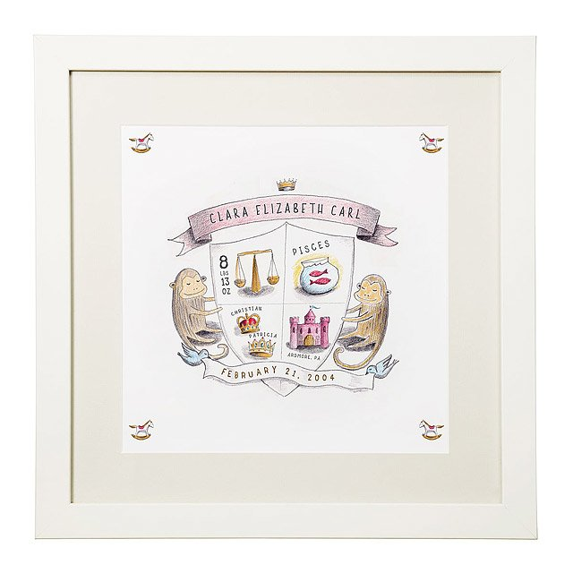 Coat of Arms - Personalized Birth Announcement