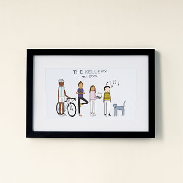 Customizable Personalized Family Print