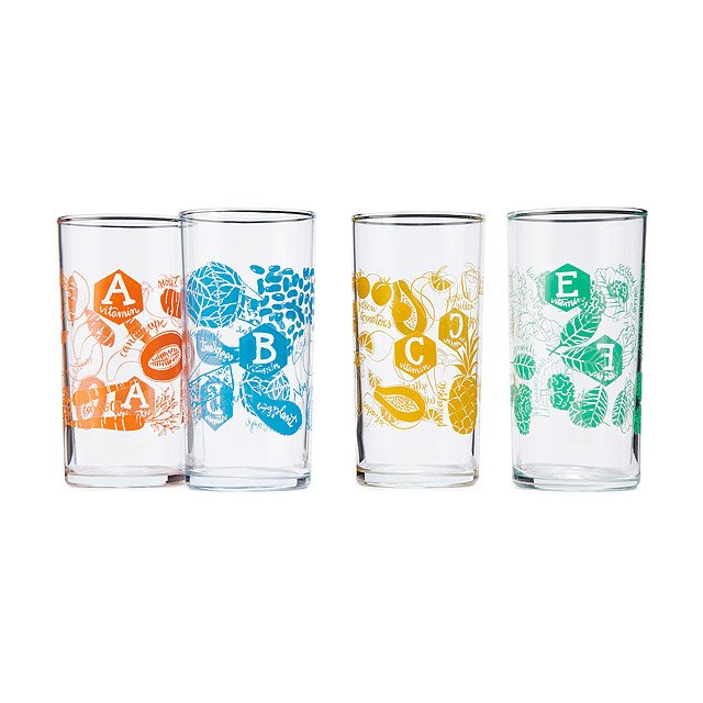 Daily Dose Glasses - Set of 4 2