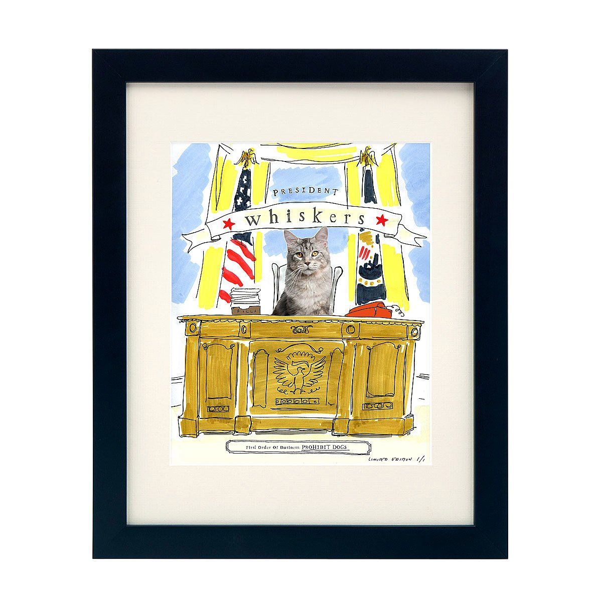 Picture Your Pet - President | dog art, cat, custom | UncommonGoods
