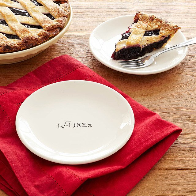 i eight sum pi plates & i eight sum pi plates | Geek Dessert Plate Equation | UncommonGoods
