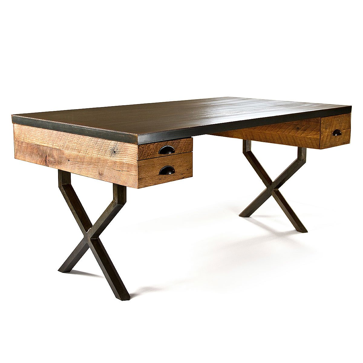 Reclaimed wood writing desk