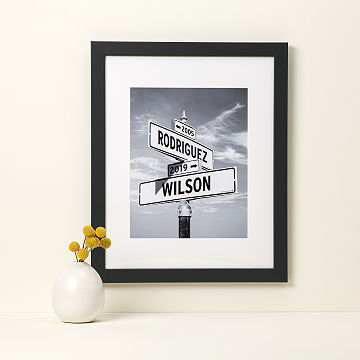 customizable intersection of love photo print