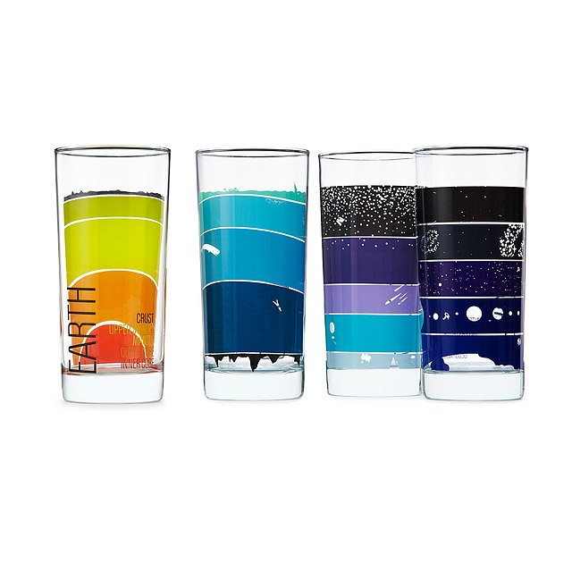 Earth Science Glasses - set of 4