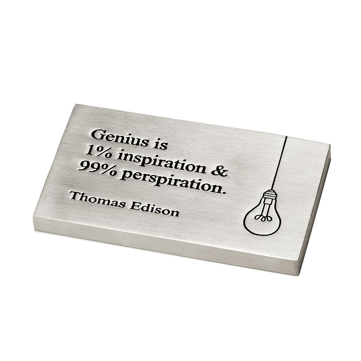 Edison Genius Paperweight | Thomas Edison, quote, inspirational ...