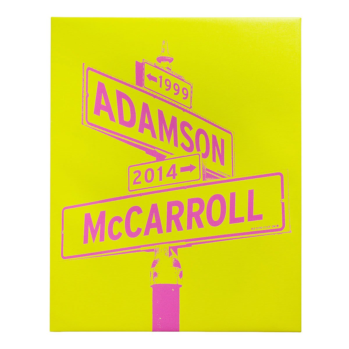 Intersection of Love - Two Tone Canvas | pop art, street sign ...