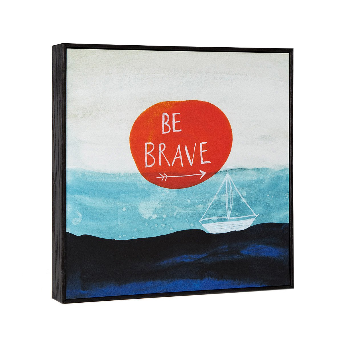 Be Brave Framed Art Block | inspirational art | UncommonGoods