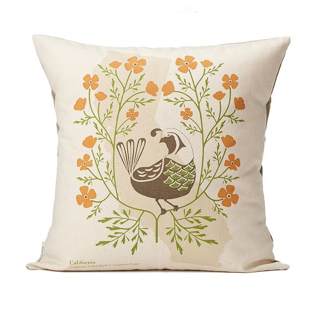Birds and Blooms Pillows - Individual States