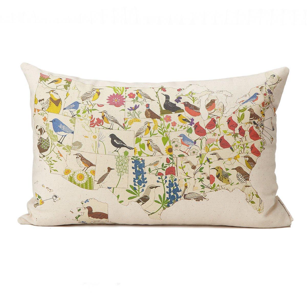 birds and blooms pillows us map 1 thumbnail