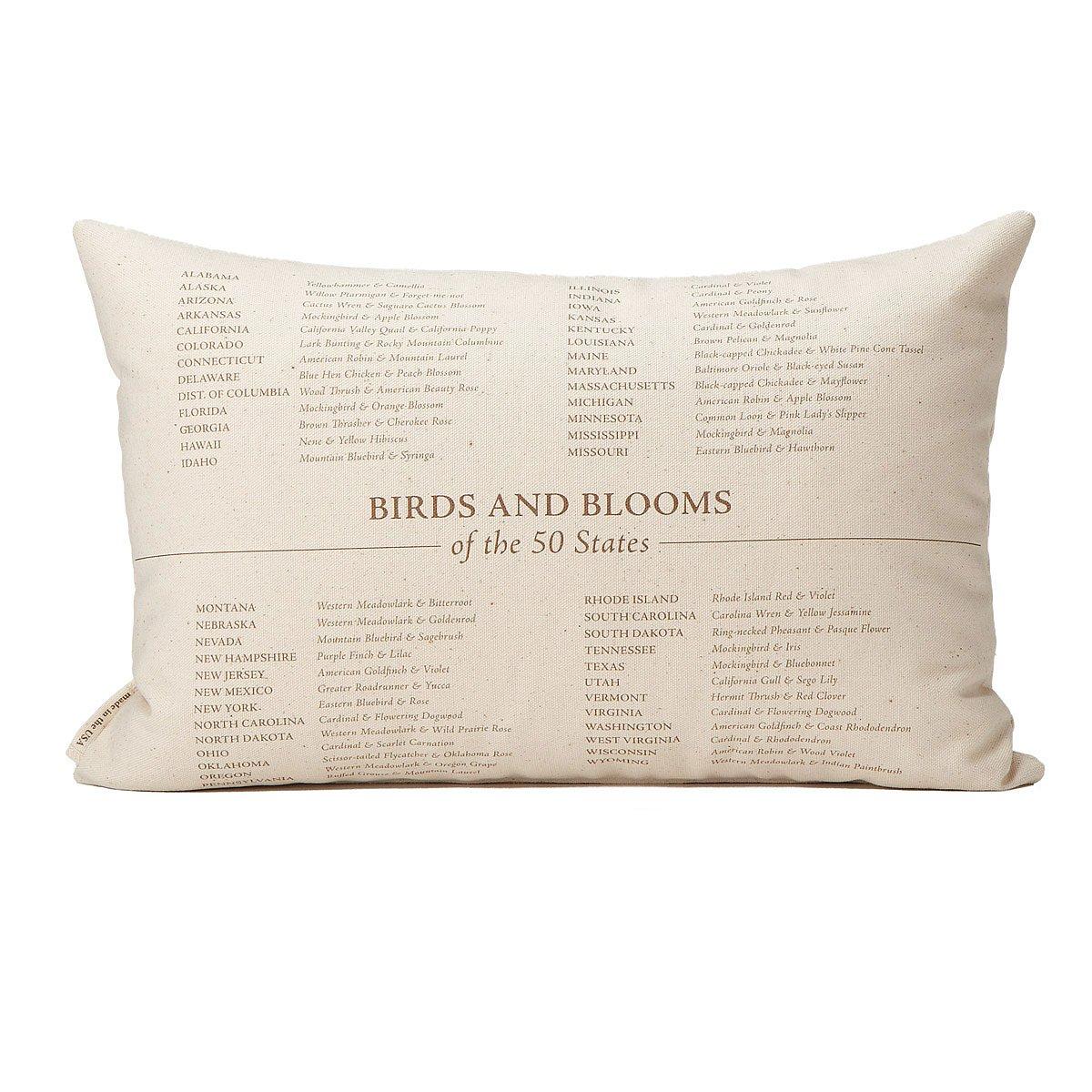 Birds And Blooms Pillows Us Map 2 Thumbnail