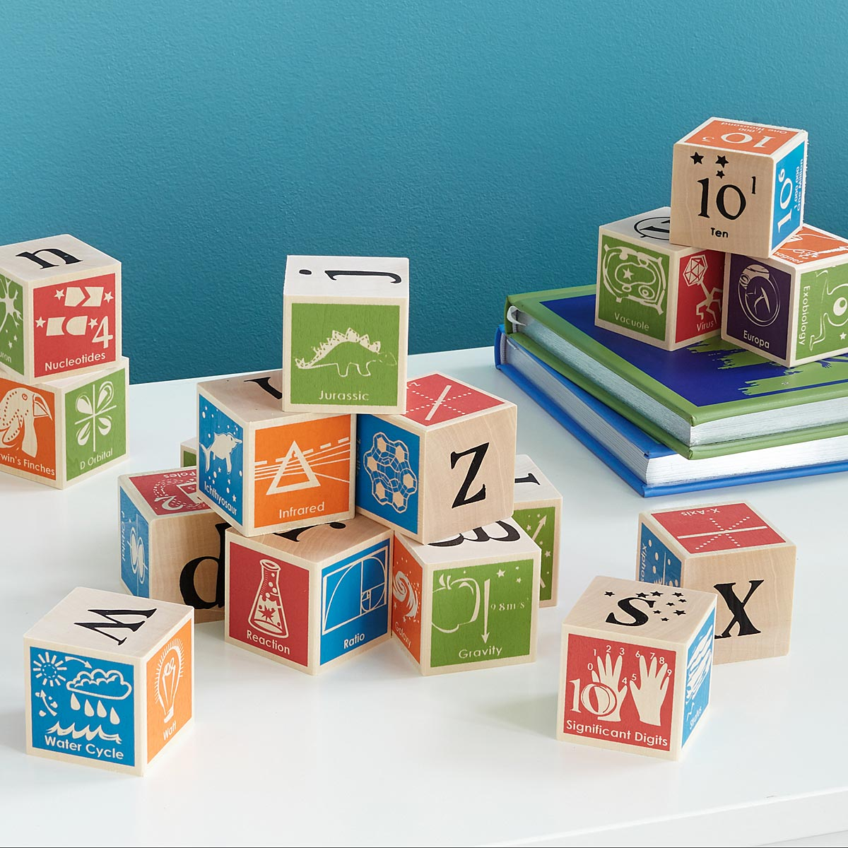Super Nerdy ABC Blocks | science toys | UncommonGoods