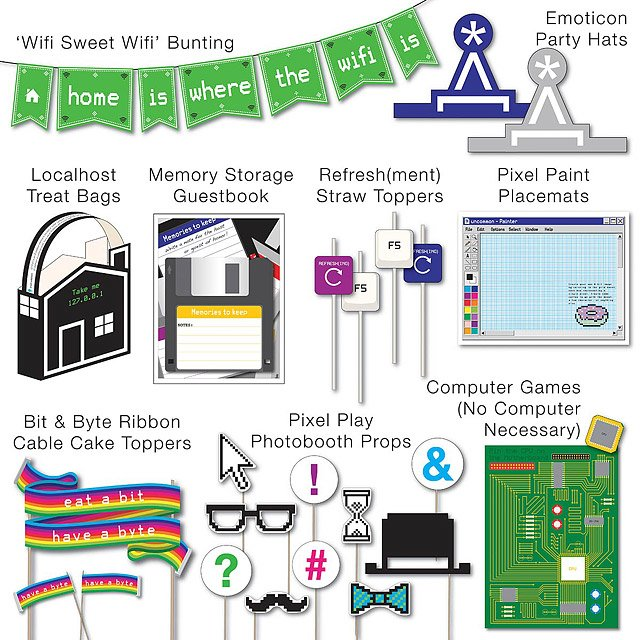 Printable Party Kit - Computer Geek