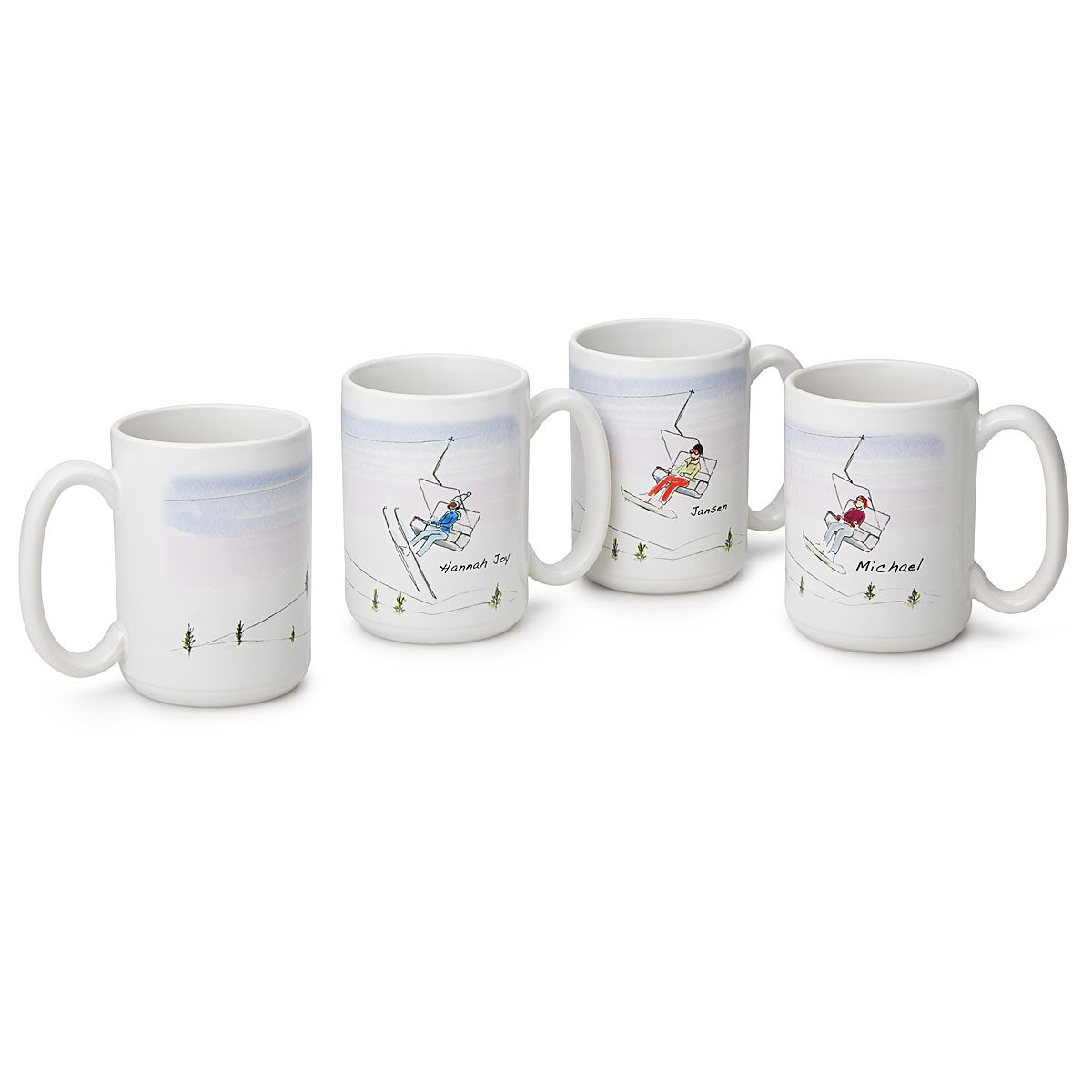 personalized family ski snowboard mugs custom mugs uncommongoods