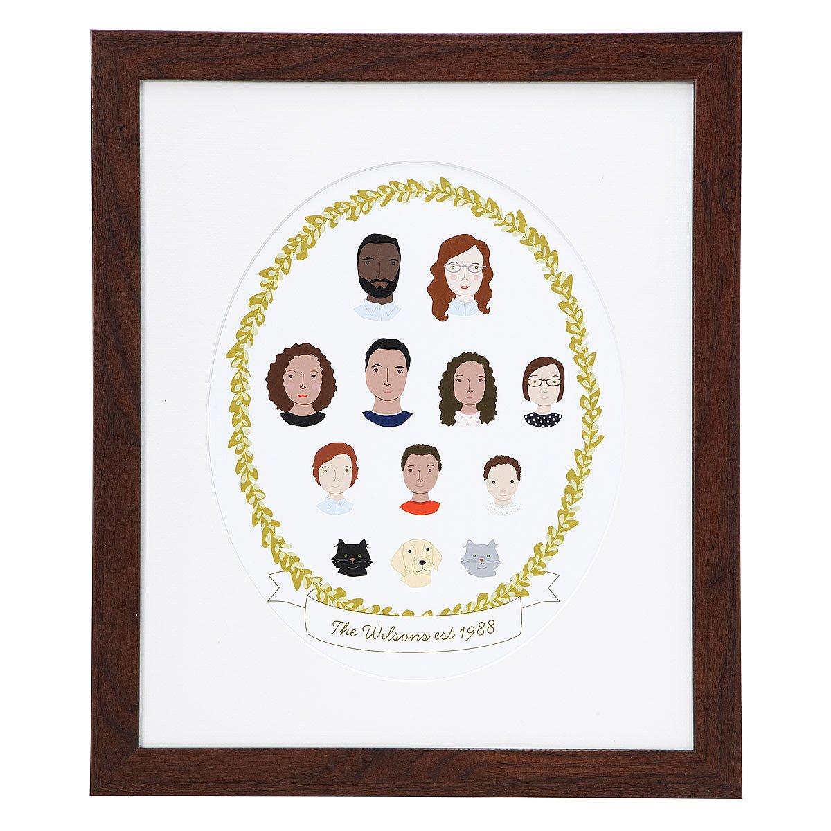 Personalized family cameo portrait portrait drawings uncommongoods personalized family cameo portrait 1 thumbnail jeuxipadfo Choice Image