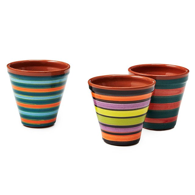 Mini Striped Pots - Set of 3