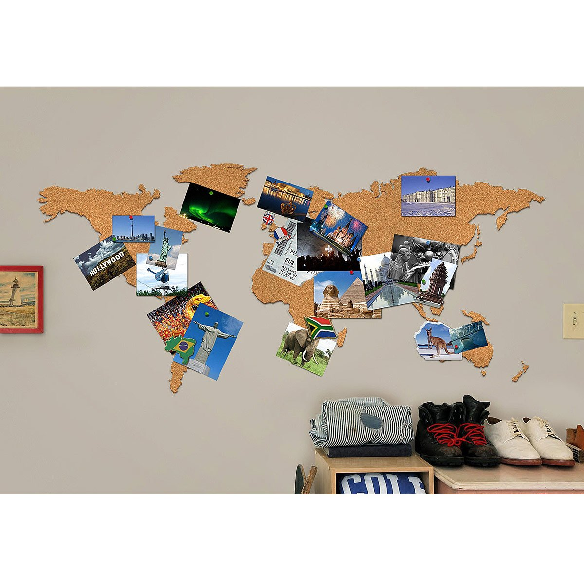 Cork map bulletin board map travel vision board uncommongoods cork map 3 thumbnail gumiabroncs Choice Image
