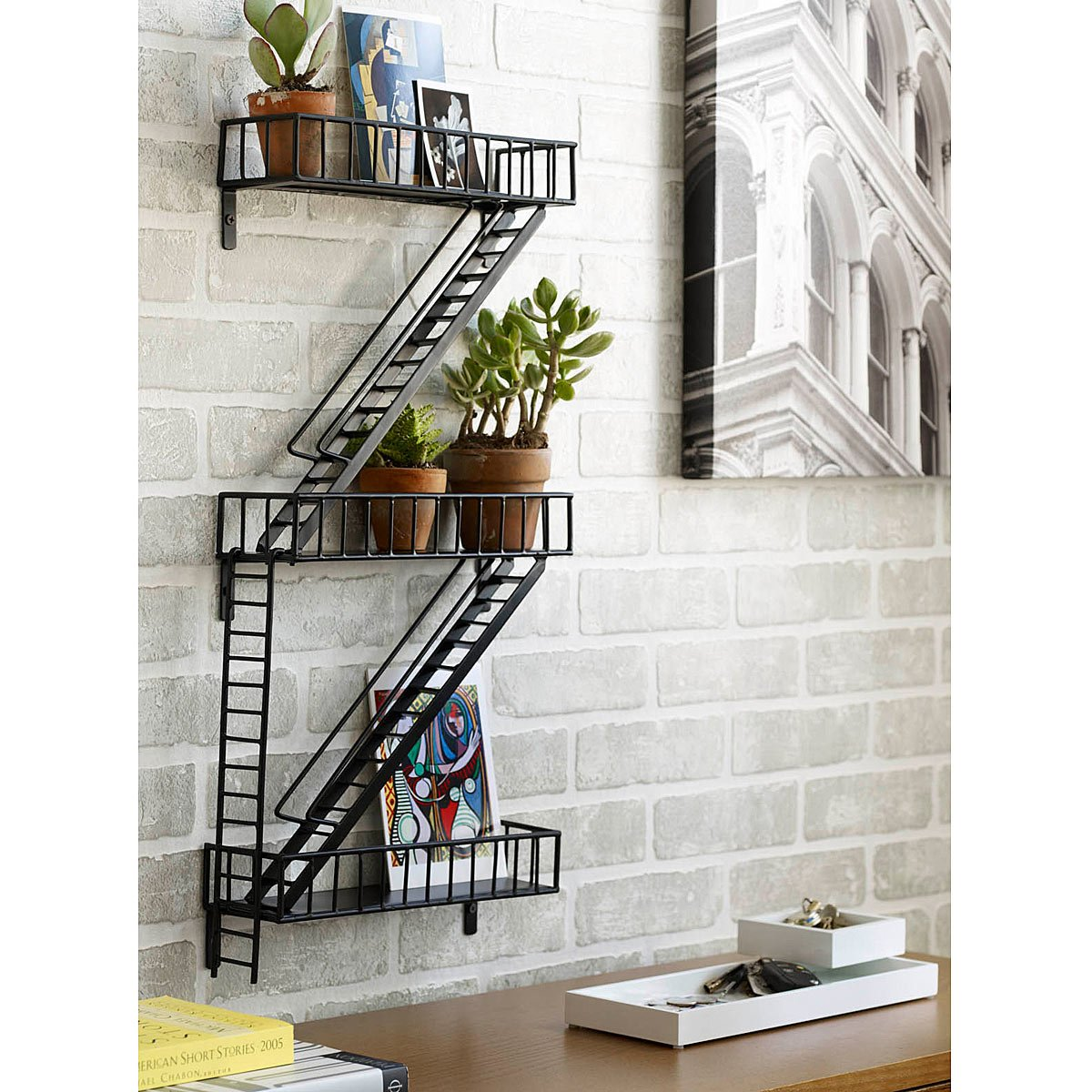 fire escape shelf - Home Decor Accents