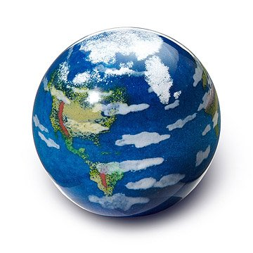 Earth Glass Paperweight