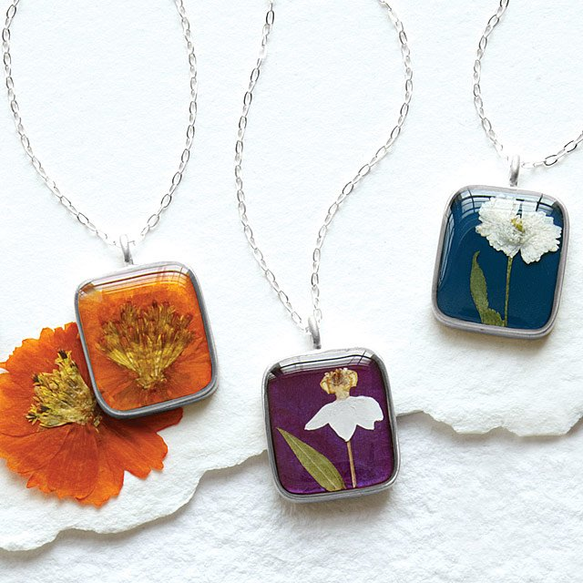 Birth Month Flower Necklace Real Flower Pendant Uncommongoods