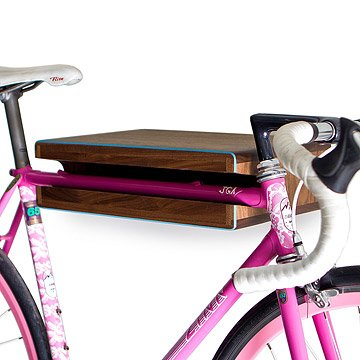 Handmade Walnut Bike Shelf