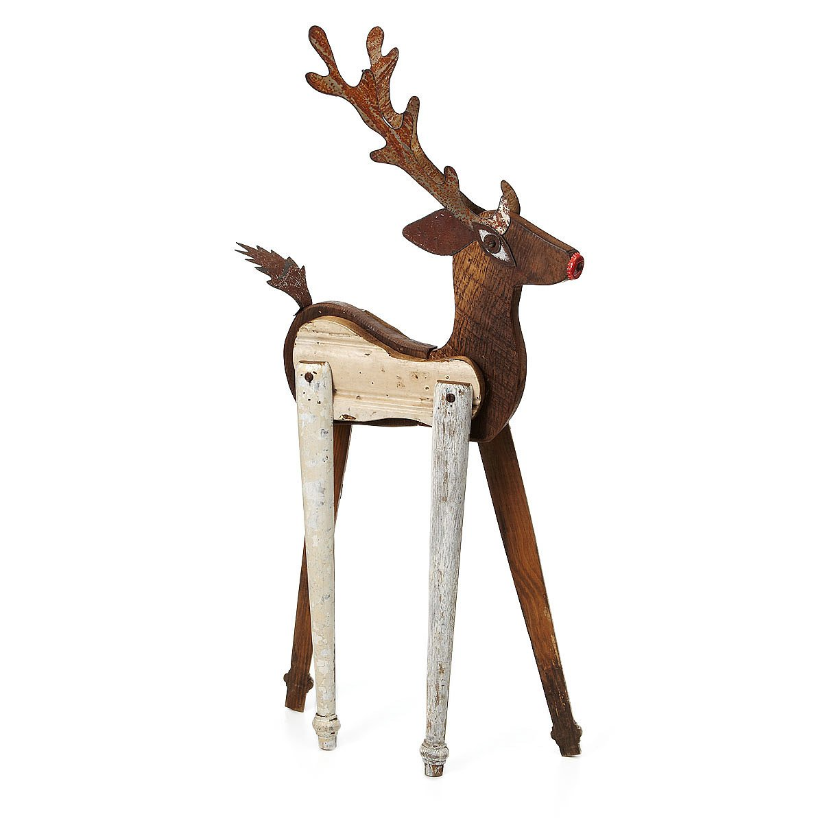 handmade reindeer sculpture 1 thumbnail - Outdoor Wooden Reindeer Christmas Decorations