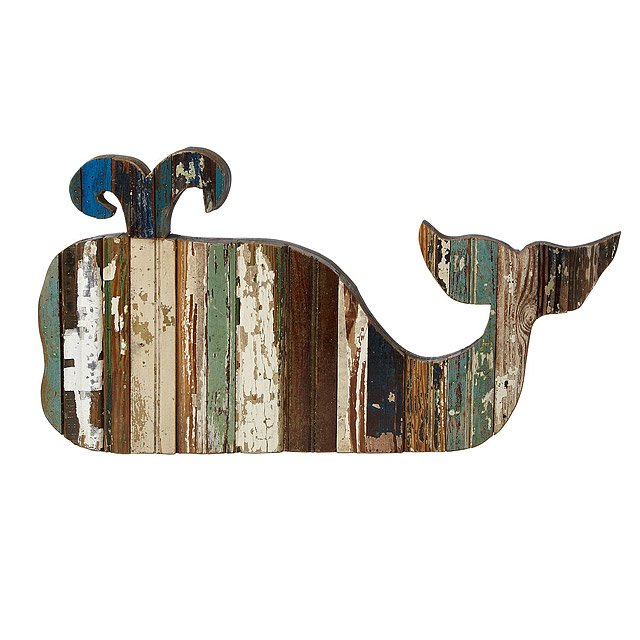 Upcycled Whale Art