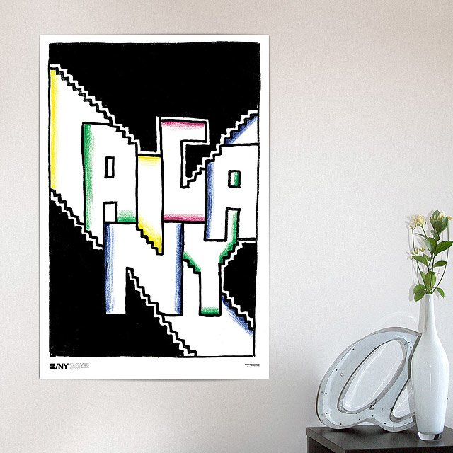 AIGA/NY 30th Anniversary Poster - Seymour Chwast 2