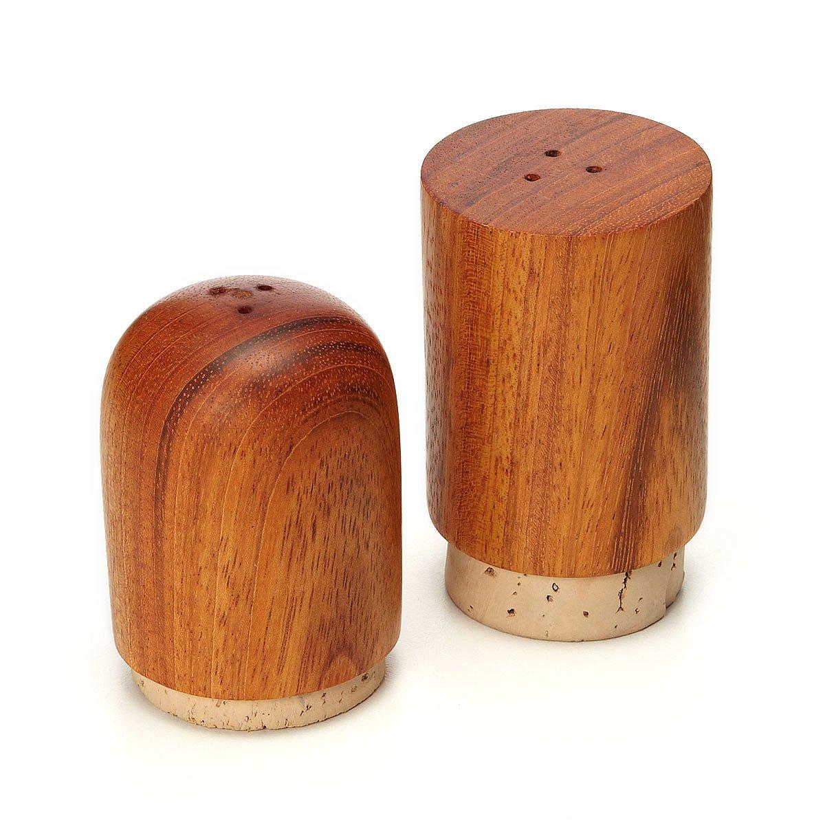 wooden salt and pepper shaker set  wood seasoning shakers  - wooden salt and pepper shaker set  thumbnail