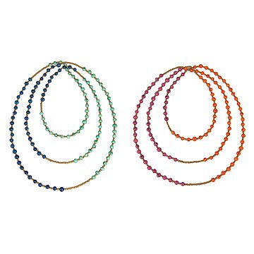 Acai Seed Color-Blocking Rope Necklaces