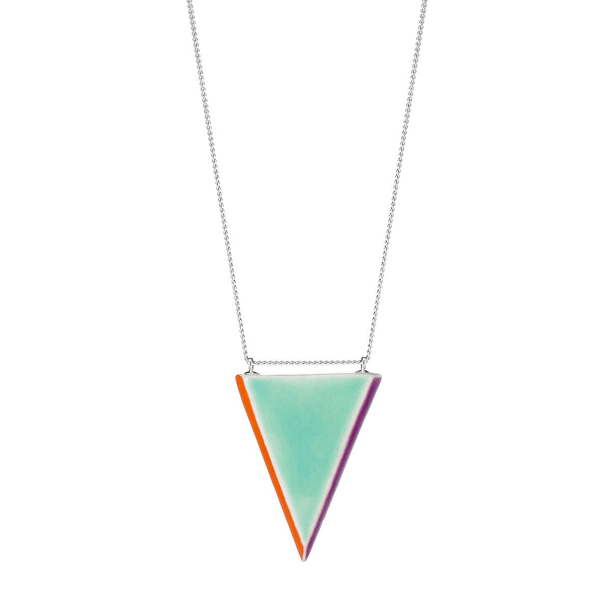 Prism pendant ceramic jewelry porcelain uncommongoods prism pendant 1 thumbnail aloadofball Image collections
