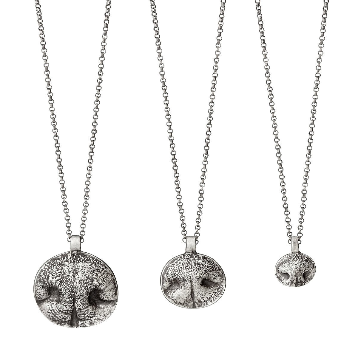 Custom Pet Nose Print Necklaces | dog nose, cat, silver ...